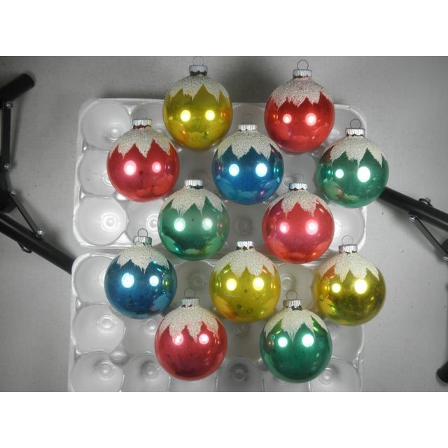 Shiny Brite Snowcap Ornaments - Set of 12 - Image 2 of 3