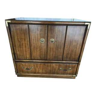 1970s Drexel Campaign Cabinet For Sale