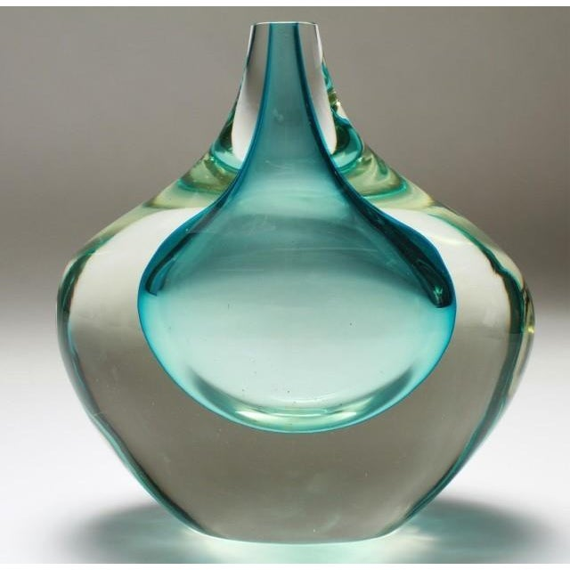 Murano Glass Sommerso Murano Sommerso Mid-Century Art Glass Bud Vase For Sale - Image 4 of 4