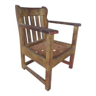 Stickley Brothers Mission Oak Arts & Crafts Chair For Sale