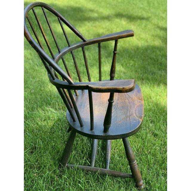 Wooden Windsor Firehouse Chair For Sale - Image 4 of 13