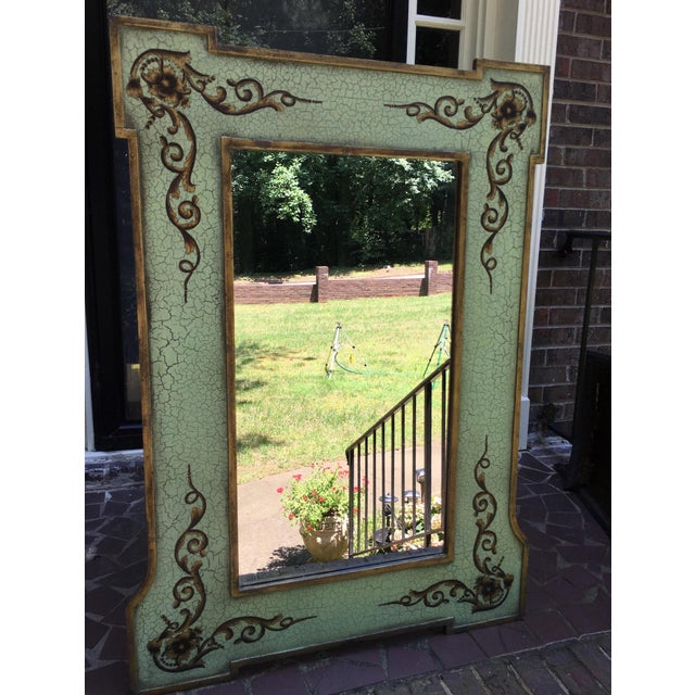 Traditional Design Rectangular Black / Green Mirrors For Sale - Image 3 of 13