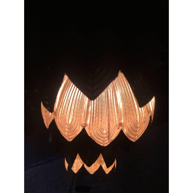 1960s Feldman Lighting Co. Mid-Century Lotus Pendant Chandelier For Sale In New York - Image 6 of 8