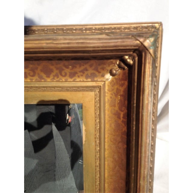 Antique Gilt-Wood Hand-Carved Mirror - Image 4 of 8