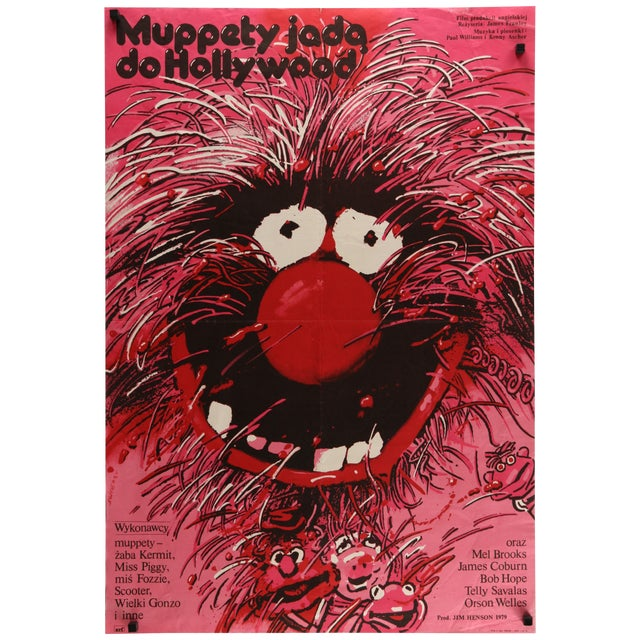 "Vintage Polish ""Muppet Movie"" Poster - Image 1 of 2"