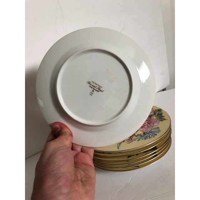 Hollywood Regency Fitz & Floyd Plates, S/7 For Sale - Image 3 of 4
