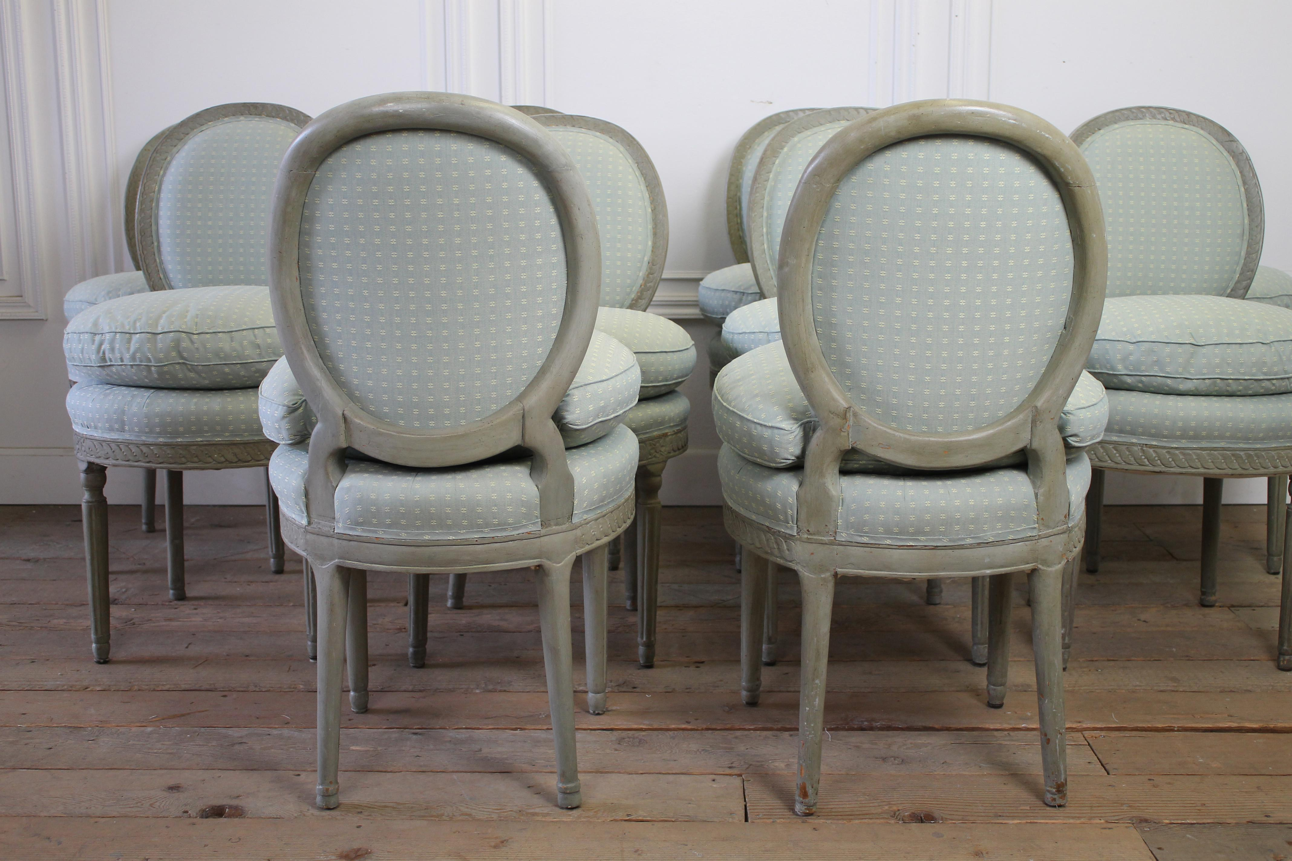 Swedish Gustavian Style Dining Chairs   Set Of 10   Image 4 Of 5