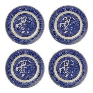 Vintage Blue Willow Dessert Plates- Set of 4 For Sale