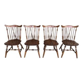 Hale Furniture Maple Windsor Brace Back Side Chairs - Set of 4 For Sale