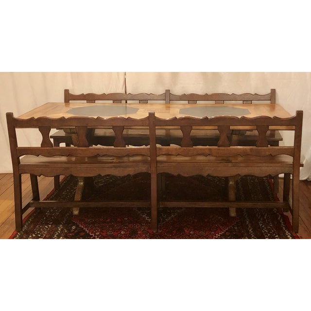 Antique French Provincial Farm Table From Pyrenees Woodlands, Circa 1910-1920. For Sale - Image 4 of 6