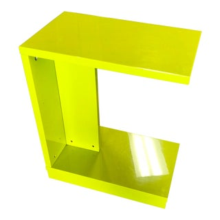 Modern Neon Green Rolling C Table For Sale