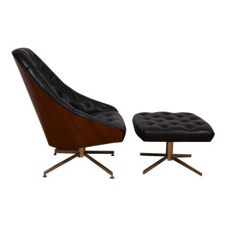 Milo Baughman for Thayer Coggin Lounge Chair & Ottoman For Sale