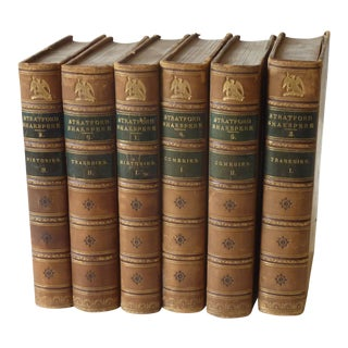 Late 19th Century Antique Shakespeare Books - Set of 6 For Sale