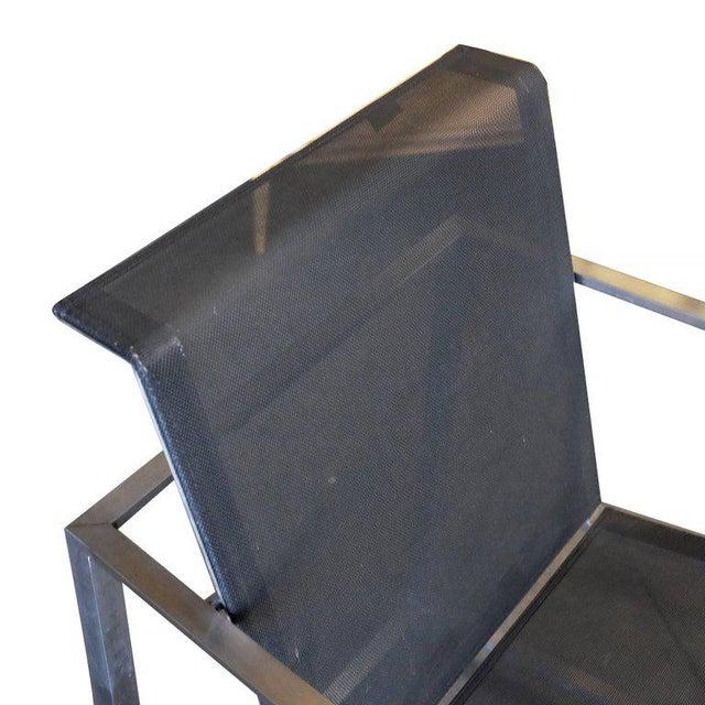 Brown Jordan Brushed Aluminium Tubular Patio Lounge, circa 1980 For Sale - Image 5 of 7