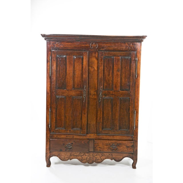Italian Early 19th Italian Century Rustic Oak Armoire For Sale - Image 3 of 11