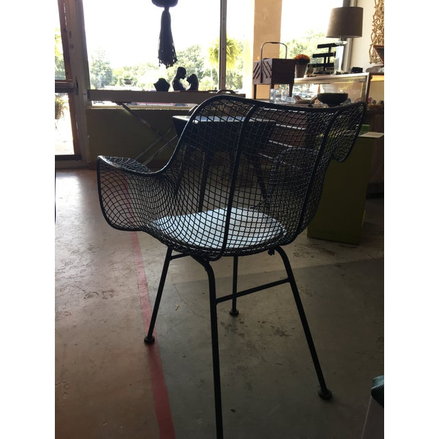 Black Vintage Mid-Century Biscayne Wire Armchairs - A Pair For Sale - Image 8 of 11