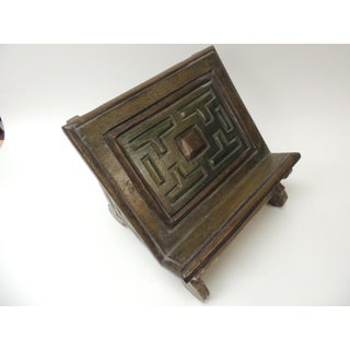 Vintage Indian Hand-Painted and Carved Wood Artisanal Book Stand Preview