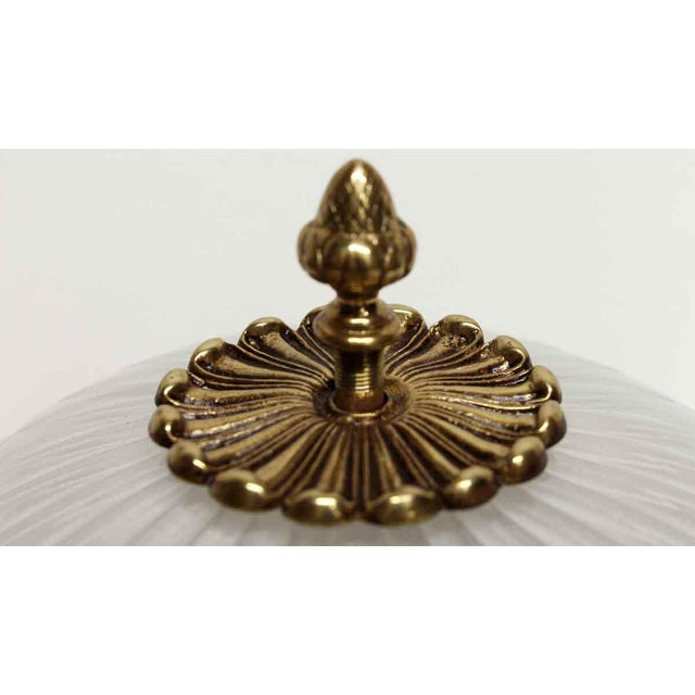 Mid 20th Century Vintage Waldorf Astoria 12.5 In. Cut Glass Flush Mount Fixture For Sale - Image 5 of 9