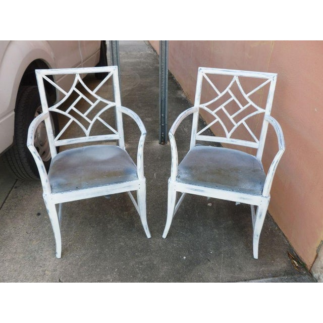 Wood 1970s Vintage Chinese Chippendale Armchairs - a Pair For Sale - Image 7 of 8