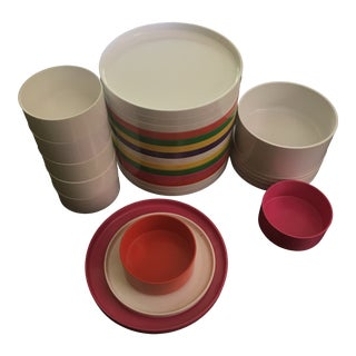 Colorful Large Heller Dinner Set by Massimo Vignelli - 29 Pieces For Sale