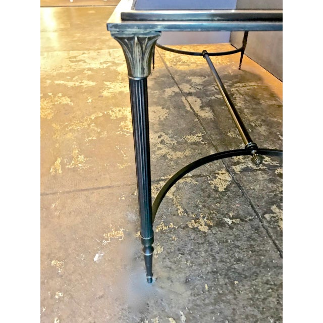 Maison Bagues Bronze and Glass Coffee Table, C. 1950-60 For Sale In Los Angeles - Image 6 of 9