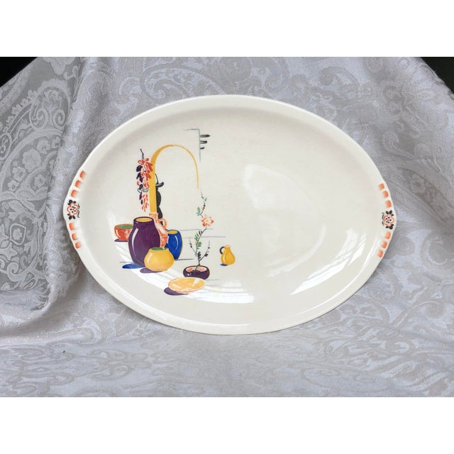 Paden City Pottery Southwestern Mexico Transferware Design Platter For Sale - Image 13 of 13