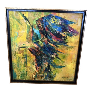 Original Contemporary Oil Painting of Eagle For Sale