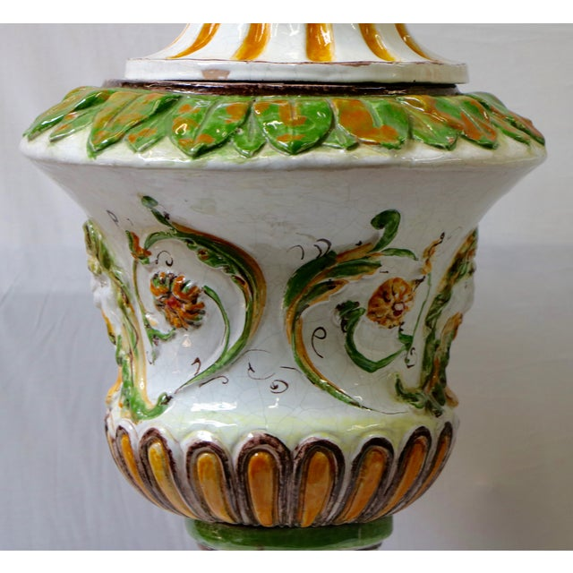 Italian Maiolica Table Lamps - A Pair - Image 7 of 9