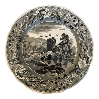 """The Spode Archive Collection Georgian Series """"Woodman"""" Dinner Plate For Sale"""