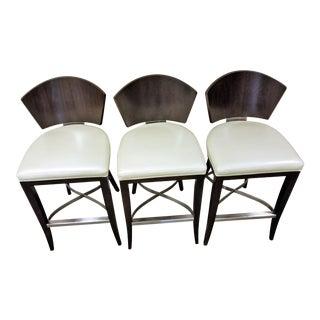 Century Mahogany Slip-Stream Barstools - Set of 3
