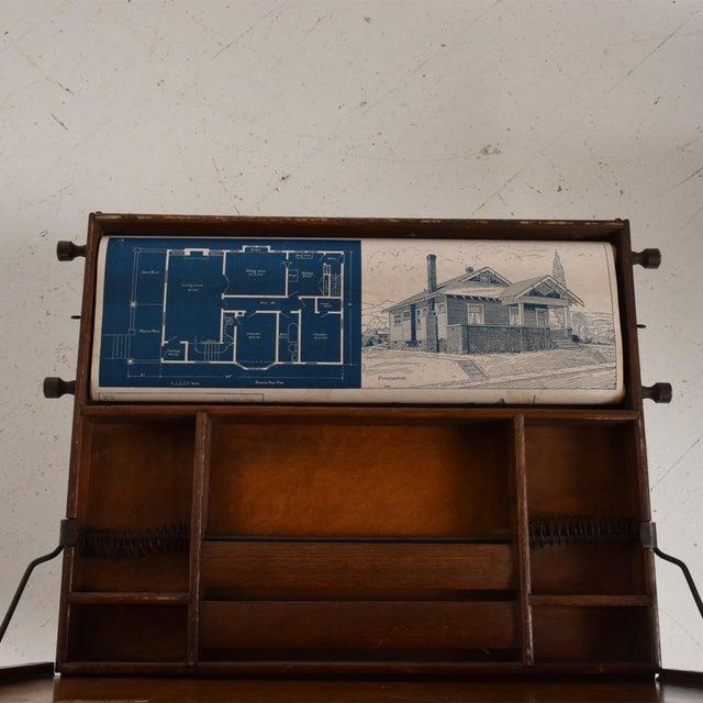 Metal Antique Chautauqua Industrial Art Desk Lewis E. Myers & Company For Sale - Image 7 of 11