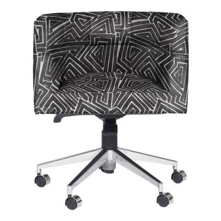 Casa Cosima Perry Desk Chair, Off Beat Black For Sale