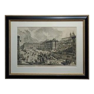 Giovanni Battista Piranesi -Veduta DI Piazza Spagna -18th Century Etching For Sale