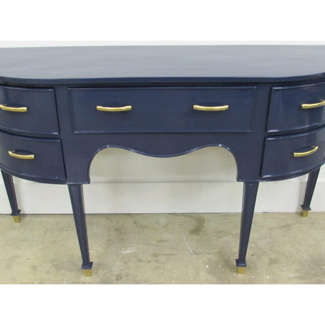 Old Navy Navy Blue Lacquered Mahogany Sideboard - Image 3 of 6