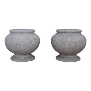1960's Japanese Modernist Granite Planters For Sale