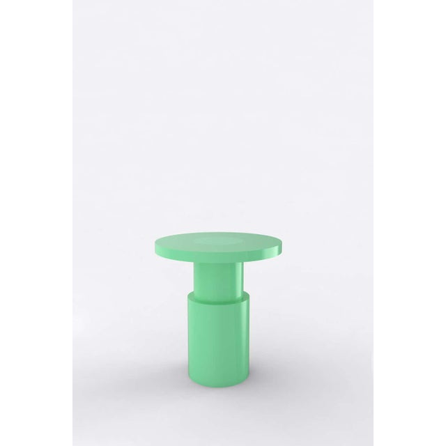 "Orphan Work 105C End Table, 2020 Shown painted Available with painted top and base Measures: 20"" diameter x 22"" height..."