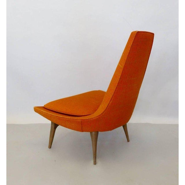Mid-Century Modern Original Condition Karpen of California Tall Back Lounge Chair For Sale - Image 3 of 9