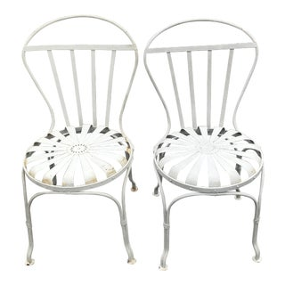 Vintage Mid Century Outdoor Spring Chairs- a Pair For Sale