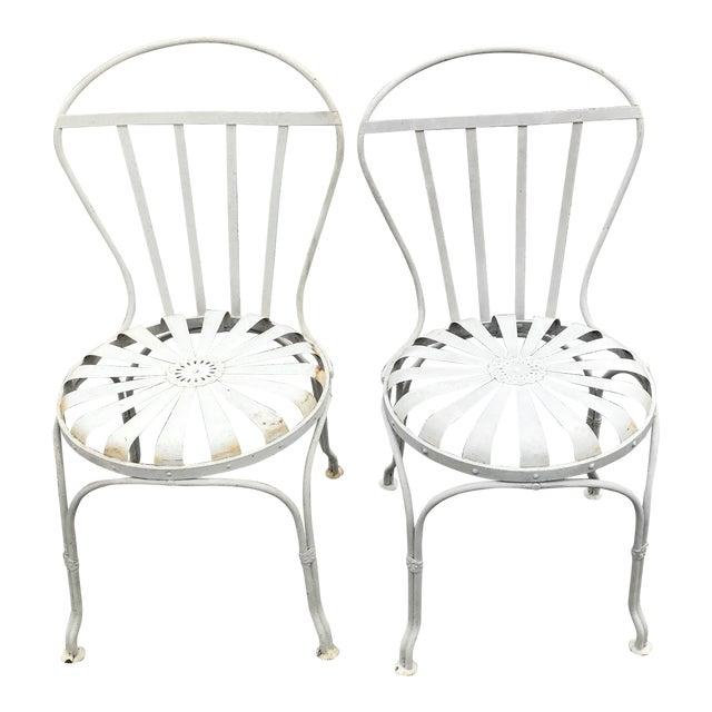 Phenomenal Vintage Mid Century Outdoor Spring Chairs A Pair Bralicious Painted Fabric Chair Ideas Braliciousco