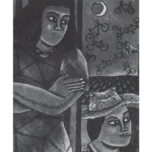 1993 Aquatint etching by E. Tropes, numbered 5 of 10 in Roman numerals. Sheet: 10 x 11 inches
