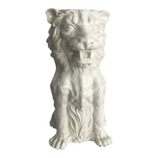Vintage Italian Lion Umbrella Stand For Sale