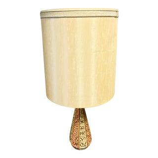 Mid-Century Modern BelArt Ceramic and Teak Lamp For Sale