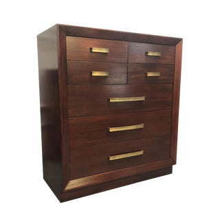 Mid Century Modern Solid Mahogany Dresser by John Stuart For Sale