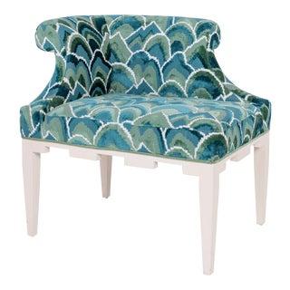 Baker Furniture Curved-Arm Bench For Sale