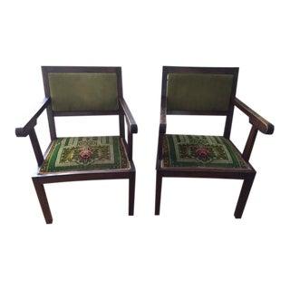 Art Deco Arm Chairs, 1920s - A Pair