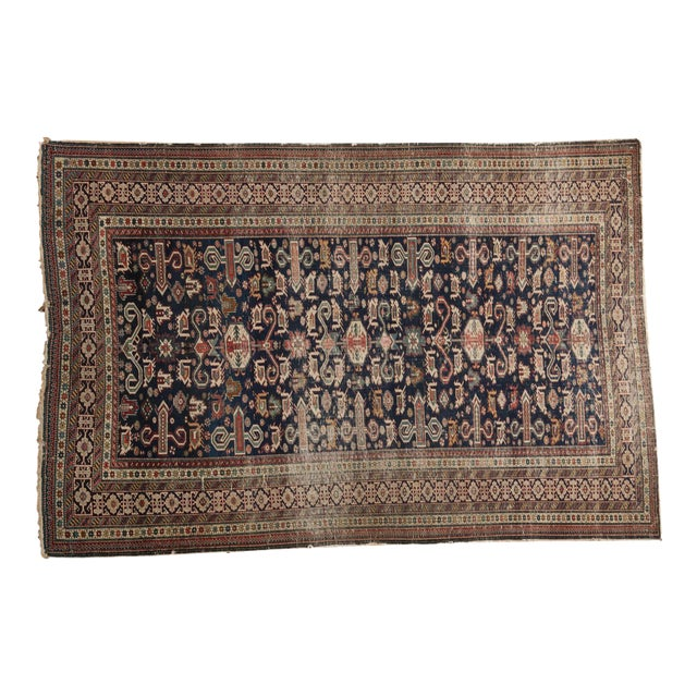 """Antique Shirvan Rug - 4'3"""" x 6'7"""" For Sale"""