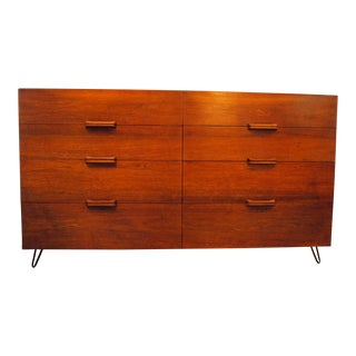 Mid Century Teak 8 Drawer Dresser by Ramseur Furniture 1950's For Sale