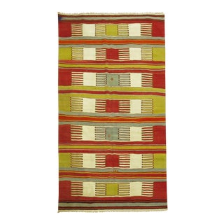 Vintage Turkish Kilim, 4'5'' X 7'3'' For Sale