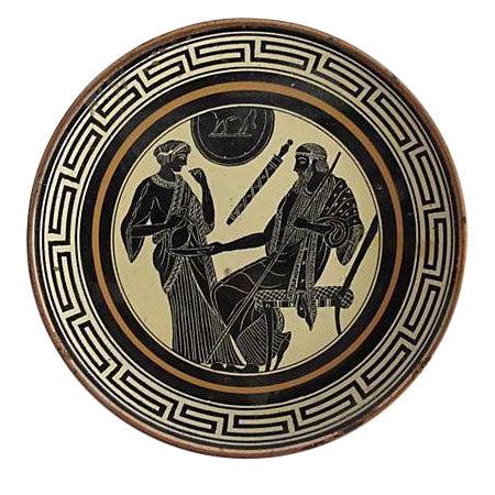 Greek Enamel Plate - Image 1 of 3