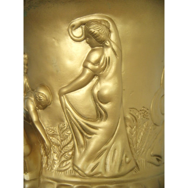 Mid 20th Century Vintage Plaster Neoclassical Gold Pedestal/Pillar and Urn For Sale - Image 5 of 7